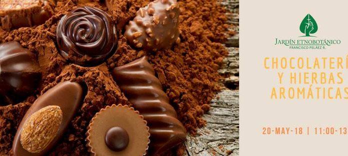 Chocolatería y hierbas aromáticas