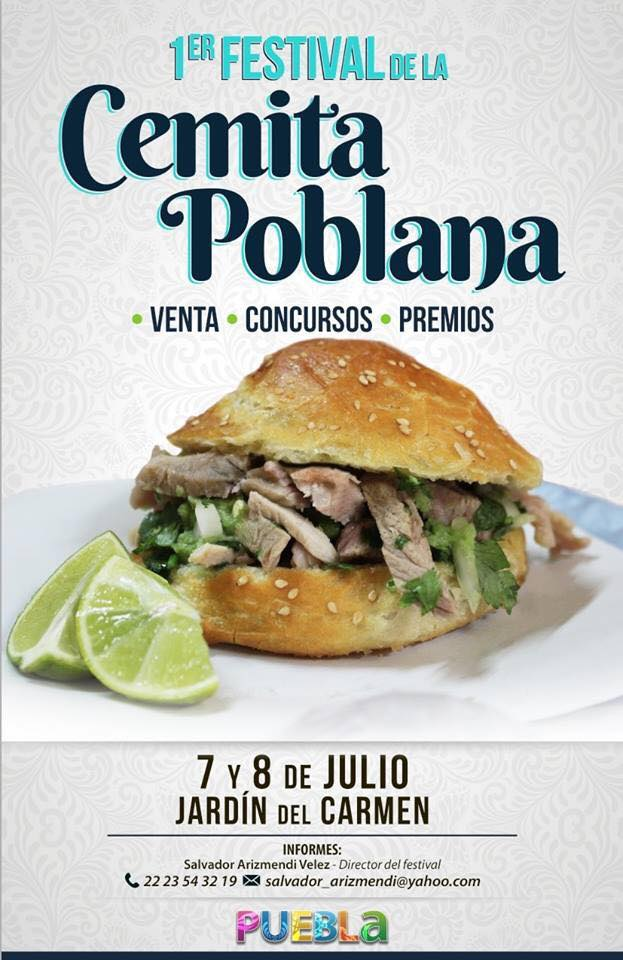 Festival de la Cemita Poblana, de los eventos de julio en Puebla